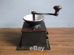 Rare antique T & C CLARK & Co cast iron coffee grinder mill made in England