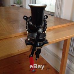 Spong & Co Ltd Made in England No 2 OLD Antique Coffee Grinder With Pan Vintage