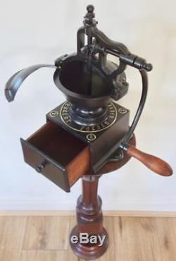 Superb Antique Vintage Traditional French Peugeot Cast Iron Coffee Grinder MILL