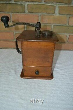 Turn of the Century Table Top Chesnutt Coffee Grinder Works Well EUC