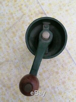 VINTAGE CAST IRON COFFEE GRINDER mill by designer ROBERT WELSH