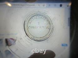 VINTAGE ORIGINAL 1880's ARCADE CRYSTAL #3 NICKEL PLATED COFFEE GRINDER & #3 CUP