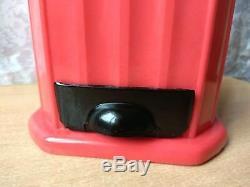 VINTAGE RARE NICE USSR RUSSIA Plastic red HAND COFFEE GRINDER SOVIET
