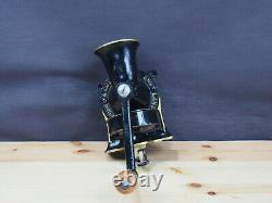 VINTAGE SPONG CAST IRON COFFEE GRINDER/MILL & TRAY, No1, BLACK, MADE IN ENGLAND