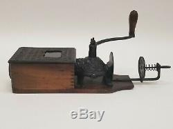 VTG Antique Golden Rule Wall Mount Cast Iron Coffee Grinder Citizens Columbus OH