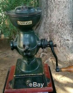 Vintag Landers Frary & Clark # 11 Universal Cast Iron Coffee Mill Grinder Store