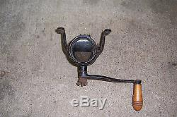 Vintage ARCADE CRYSTAL Coffee Grinder Mill Wall Mount Cast Iron Antique