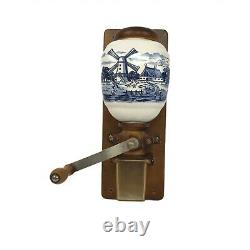 Vintage ARMIN TROSSER Porcelain Coffee Grinder Wall Mount Complete