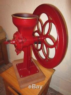 Vintage Antique 1916 Huge Cast Iron Enterprise No 60 Coffee Grinder MILL V. G. C