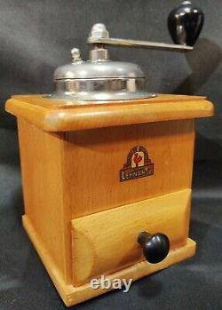 Vintage Antique Authentic Wooden Stahl-Mahlwerk Lehnartz German Coffee Grinder