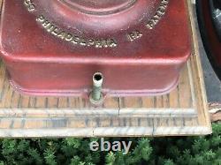 Vintage Antique CAST IRON ENTERPRISE COFFEE GRINDER MILL Double Wheel Circa1873