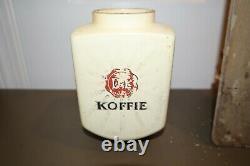 Vintage Antique Douwe Egberts Dutch Koffie Coffee Mill Grinder Wall Mount RARE