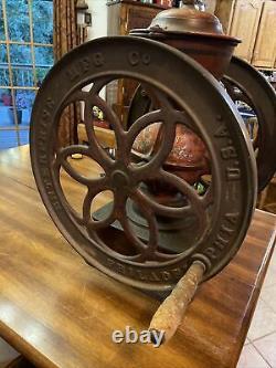 Vintage Antique Enterprise Mfg Co Double Wheel Coffee Grinder