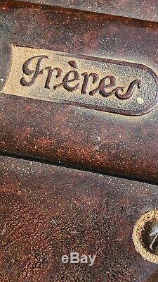 Vintage Antique French Freres Peugeot Chrome Coffee Grinder