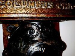 Vintage Antique Golden Rule Wall Mounted Coffee Grinder All Original