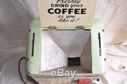 Vintage Antique Grindmaster Model 500 Pbh Grocery Store Coffee Bean Grinder