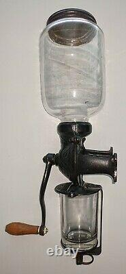 Vintage Arcade Crystal No 1 Coffee Grinder/Mill Wall Mount Cast Iron Hand Crank