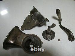 Vintage Belgium Rare Coffee Grinder Mill Iron Nestor Martin Huy Nº1 to Table Fix