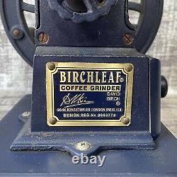 Vintage Birchleaf Coffee Grinder London Cast Iron Design Reg No. 2063773 Retro