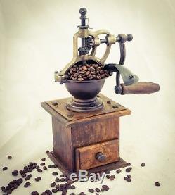 Vintage COFFEE Grinder Mill Moulin Molinillo cafe Kaffeemuehle Macina caffè