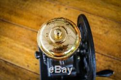Vintage Cast Iron Birchleaf Manual Coffee Grinder Top Quality Large