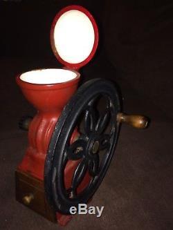 Vintage Cast Iron Single Wheel Coffee Grinder Mill Japan Antiques