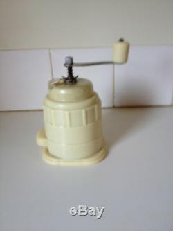Vintage Coffee Grinder Rare Art Deco Bakelite Hand Mill Collector Display Cafe