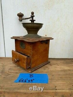 Vintage Coffee Grinder, Wood and Metal Coffee Grinder, Coffee Bar Farmhouse Kitc