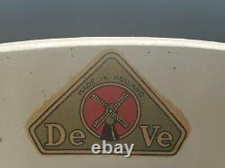 Vintage De Ve Holland Delft Porcelain Windmill Wall Mounted Coffee Grinder