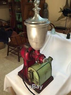 Vintage Early 1900s Working Hobart Electric Coffee Grinder, WithHopper & Catcher