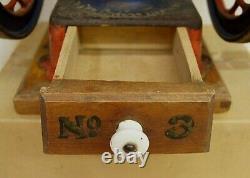 Vintage Enterprise 2215 Coffee Grinder Mill countertop No. 3 1898