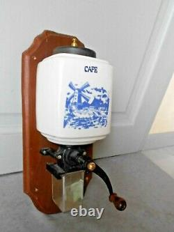 Vintage French Wall CERAMIC COFFEE GRINDER MILL
