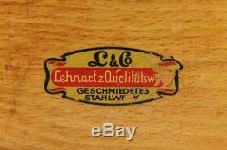 Vintage German Wooden L&CO LENHARTZ Coffee Grinder Hand Crank 1950's