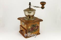 Vintage German ZASSENHAUS MALHWERK Coffee Grinder Hand Crank 1940's