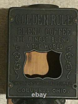 Vintage Golden Rule / Citizens' Wholesale Supply Co Wall Mount Coffee Grinder