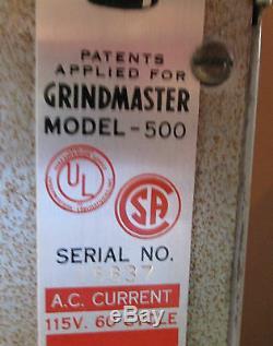 Vintage Grindmaster Model 500 Coffee Grinder