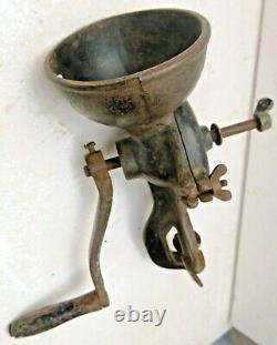 Vintage HUSQVARNA No. 6 Sweden CI Coffee Grinder Mill Machine table top clamp