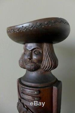 Vintage Hand Carved German Wooden Pepper Mill Grinder Farm Shop Pub Collector