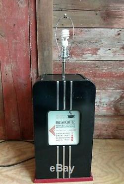 Vintage Hobart Coffee Grinder Model 3430 table lamp coffee shop decor repurpose