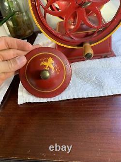 Vintage John Wright Coffee Mill Grinder Cast Iron RARE VG+ Shape GORGEOUS