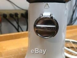 Vintage Kitchenaid KCG200 White Burr Coffee Grinder WORKS GREAT FREE SHIP