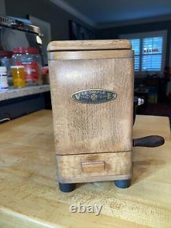 Vintage Le Trefle VE Wood Coffee Grinder / Mill FRANCE