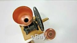 Vintage Mr Dudley International Coffee Grinder Cast Iron Big Wheel