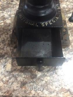Vintage National Specialty Cast Iron Coffee Grinder