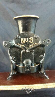 Vintage No. 3 Spong Cast Iron Coffee Mill / Grinder & Catch Cup