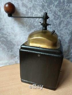 Vintage OLD wooden Table Box Coffee mill Grinder ANTIQUE MODEL KSB