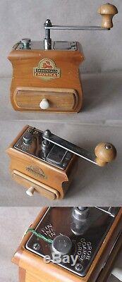 Vintage Old Luxurious German Wooden Coffee Grinder MILL Zassenhaus Mokka