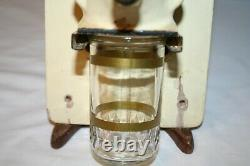 Vintage PeDe Wall Mount Coffee Grinder with Mounting Board