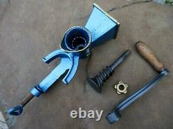 Vintage Rare French Josa Hand Crank Coffee Grinder Mill Cast Iron to Table Fix