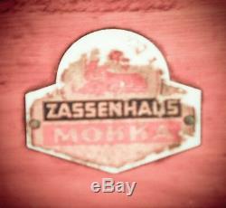 Vintage ZASSENHAUS MOKKA Coffee Grinder Mill Moulin Cafe Molinillo Kaffeemuehle